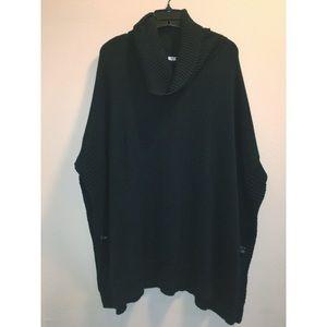 Black poncho style sweater